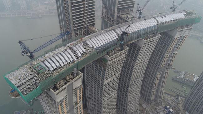 Egyedülálló épület: sosem láttunk még vízszintes felhőkarcolót