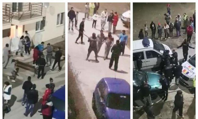 Tömegverekedés tört ki Aradon egy csók miatt-Videó