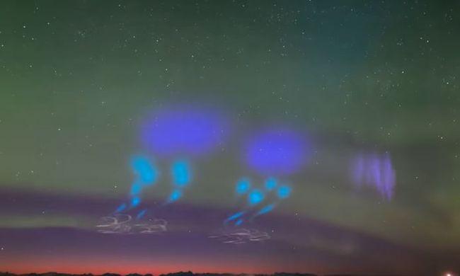 Lélegzetelállító látvány: különös fények jelentek meg az égen, de van magyarázat